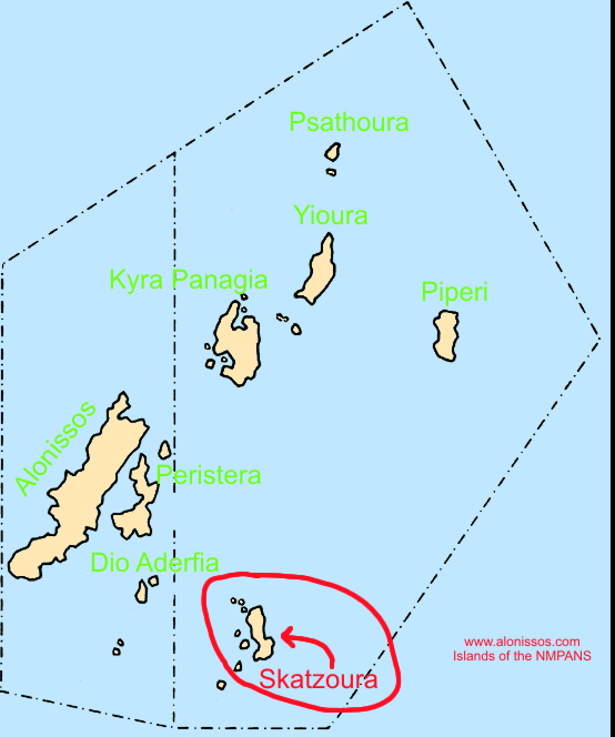 Location of Skatzoura island